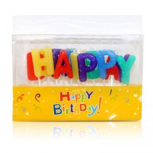 盒裝英文HAPPY BIRTHDAY臘燭