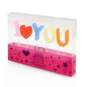 盒裝I LOVE YOU臘燭