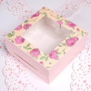 4 cup cake box (pattern2)